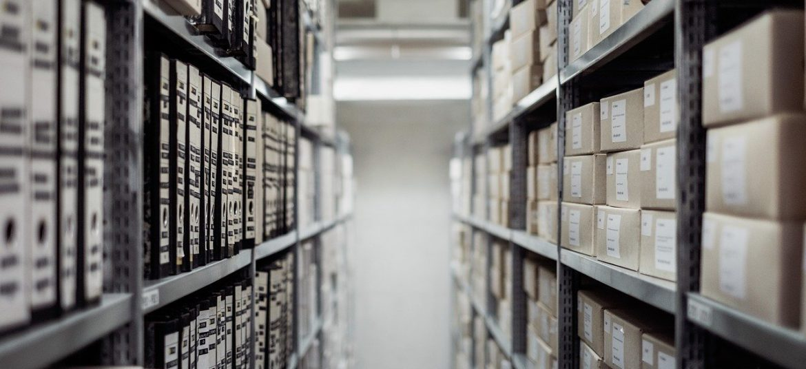 archive, boxes, documents